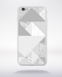 Coque abstract pattern 1 glasier gray compatible iphone 6 transparent