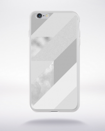 Coque abstract pattern 4 glasier gray compatible iphone 6 transparent