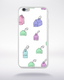 Coque cute stamps pattern 1 compatible iphone 6 transparent