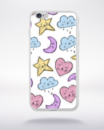 Coque cute stamps pattern 4 compatible iphone 6 transparent