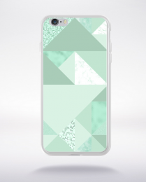 Coque abstract pattern 1 lucite green compatible iphone 6 transparent