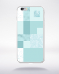 Coque abstract pattern 2 aquamarine compatible iphone 6 transparent
