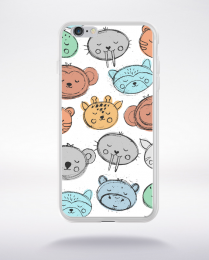Coque cute stamps pattern 7 compatible iphone 6 transparent