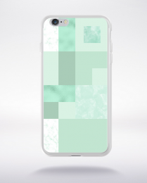 Coque abstract pattern 2 lucite green compatible iphone 6 transparent