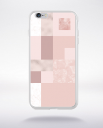 Coque abstract pattern 2 rose gold compatible iphone 6 transparent
