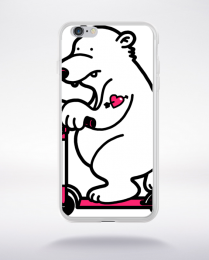 Coque scooter bear compatible iphone 6 transparent