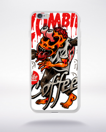 Coque zombie like coffee compatible iphone 6 transparent