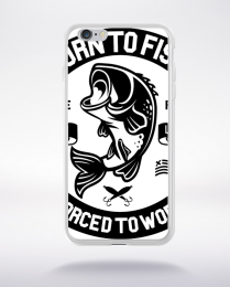 Coque born to fish compatible iphone 6 transparent