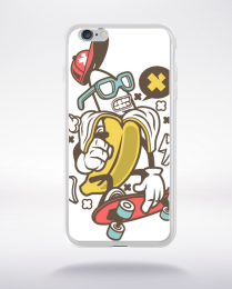 Coque banana compatible iphone 6 transparent
