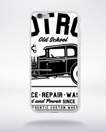Coque hot rod old school compatible iphone 6 transparent