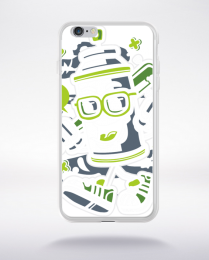 Coque paint spray cane bastard compatible iphone 6 transparent