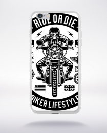 Coque ride or die compatible iphone 6 transparent