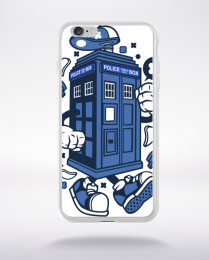 Coque police box compatible iphone 6 transparent