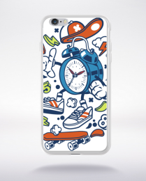 Coque twin bell clock compatible iphone 6 transparent