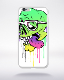 Coque coloured skull compatible iphone 6 transparent