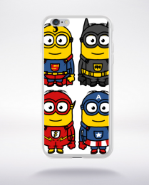 Coque 4 minions heros compatible iphone 6 transparent