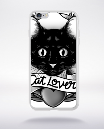 Coque cat lover compatible iphone 6 transparent