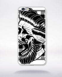 Coque hipster skull compatible iphone 6 transparent