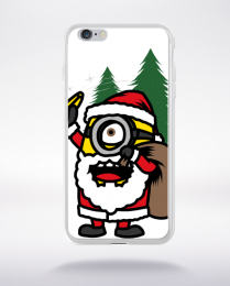 Coque santa minions compatible iphone 6 transparent