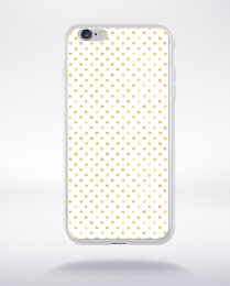 Coque gold polka dot 1 m compatible iphone 6 transparent
