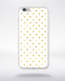 Coque gold polka dot 1 l compatible iphone 6 transparent