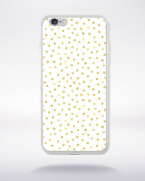 Coque gold polka dot 2 m compatible iphone 6 transparent