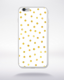 Coque gold polka dot 2 l compatible iphone 6 transparent