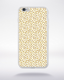 Coque gold polka dot 3 s compatible iphone 6 transparent