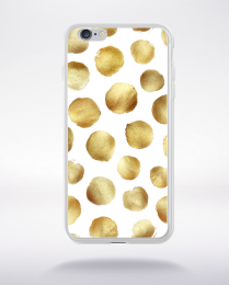 Coque gold polka dot 3 l compatible iphone 6 transparent
