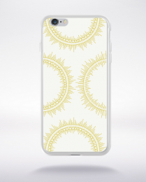 Coque mandala pattern 12 compatible iphone 6 transparent