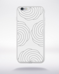 Coque mandala pattern 16 compatible iphone 6 transparent