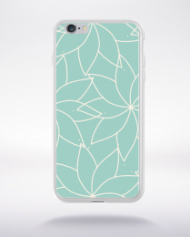 Coque mandala pattern 20 compatible iphone 6 transparent