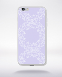 Coque mandala pattern 9 compatible iphone 6 transparent