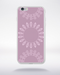 Coque mandala pattern 13 compatible iphone 6 transparent