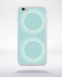 Coque mandala pattern 1 compatible iphone 6 transparent