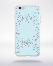 Coque mandala pattern 8 compatible iphone 6 transparent