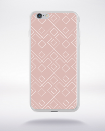 Coque geometric pattern 2 rose gold compatible iphone 6 transparent