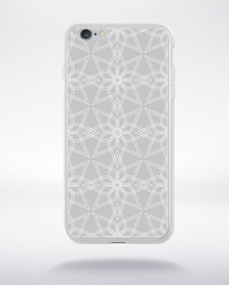 Coque geometric pattern 3 glasier gray compatible iphone 6 transparent