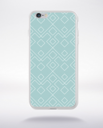 Coque geometric pattern 2 aquamarine compatible iphone 6 transparent