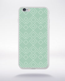 Coque geometric pattern 2 lucite green compatible iphone 6 transparent