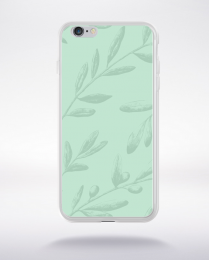 Coque pattern 2 lucite green compatible iphone 6 transparent