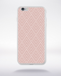 Coque geometric pattern 4 rose gold compatible iphone 6 transparent