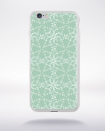 Coque geometric pattern 3 lucite green compatible iphone 6 transparent