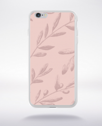Coque pattern 2 rose gold compatible iphone 6 transparent