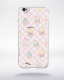 Coque cupcake pattern 1 compatible iphone 6 transparent
