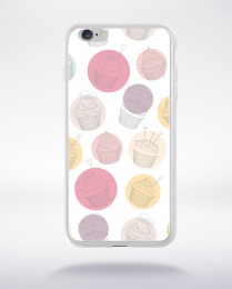 Coque cupcake pattern 3 compatible iphone 6 transparent