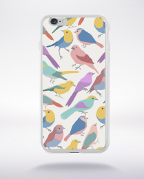 Coque birds pattern compatible iphone 6 transparent