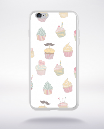 Coque cupcake pattern 2 compatible iphone 6 transparent