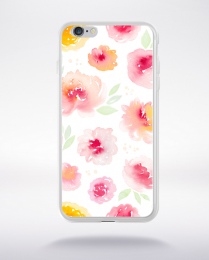 Coque watercolor love 3 l compatible iphone 6 transparent