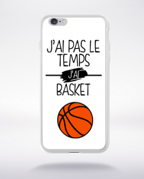 Coque j ai pas le temps j ai basket 2 compatible iphone 6 transparent